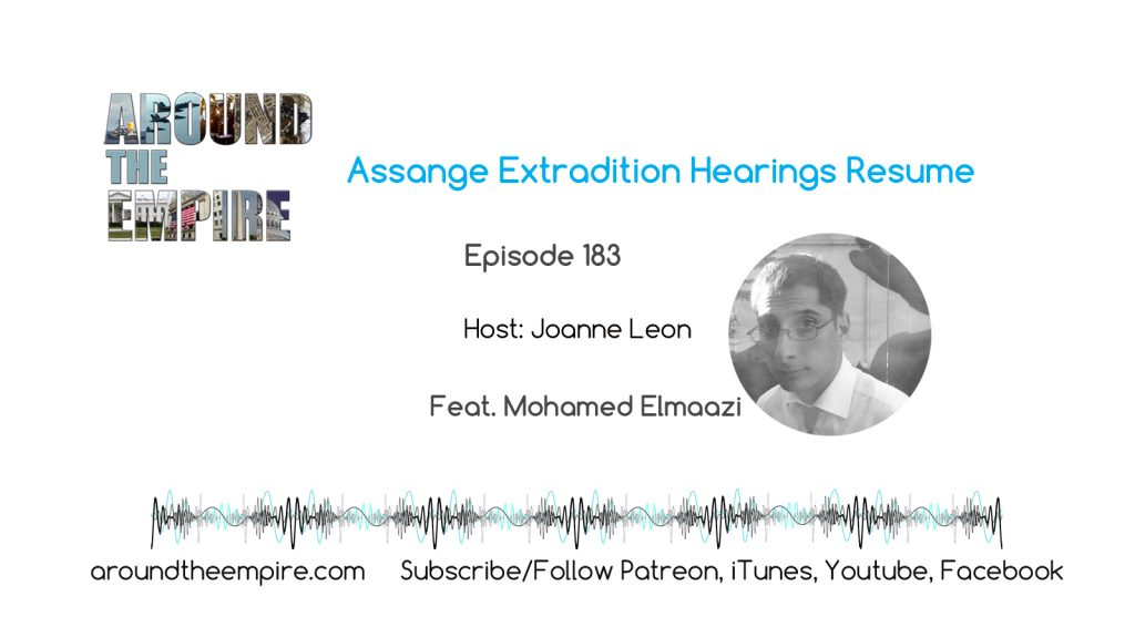 Ep 183 Assange Extradition Hearings Resume feat Mohamed Elmaazi