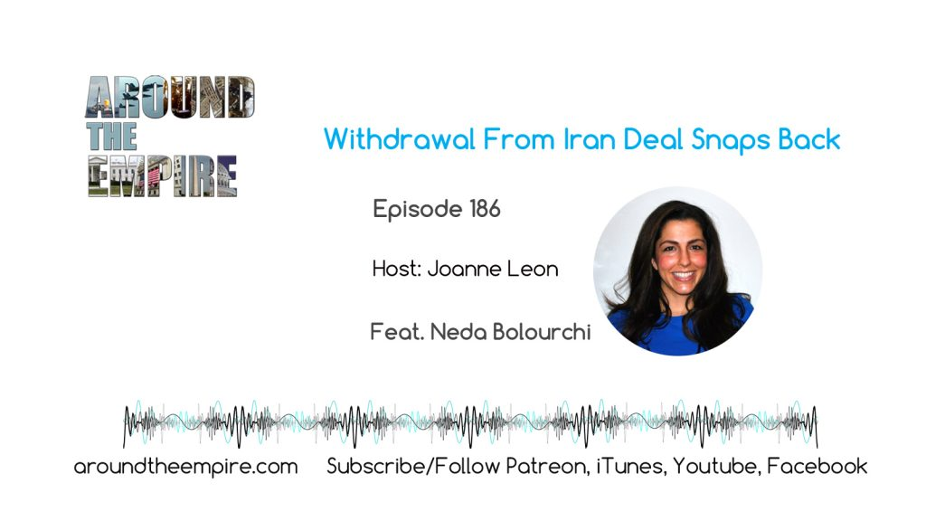 Ep 186 Withdrawal From Iran Deal Snaps Back feat Neda Bolourchi