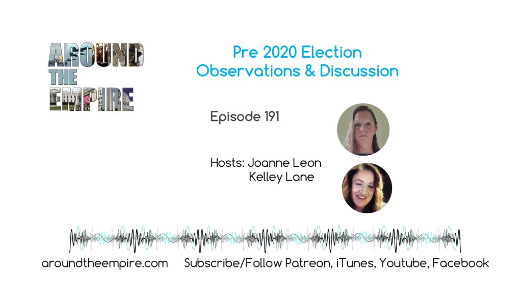 Ep 191 Pre 2020 Election Discussion & Observations